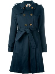 Thom Browne Mackintosh Trench Coat Blue