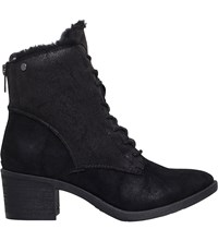 Miss Kg Taite Lace Up Detail Ankle Boots Black