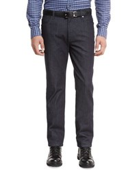 Ermenegildo Zegna Stretch Woven Denim Jeans Dark Indigo