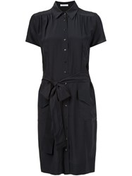 Sophie Theallet Tie Waist Shirt Dress Black