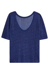 Missoni Blue Lurex Top