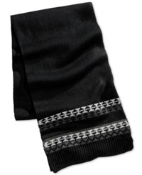 Club Room Men's Knit Scarf Only At Macy's Grey
