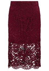 Gaudi' Gaudi Pencil Skirt Zinfandel Bordeaux