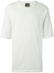 Laneus Round Neck T Shirt White