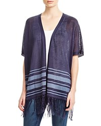 Design History Fringed Cardigan Denim Blue
