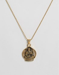 Seven London Buddha Necklace In Gold Gold
