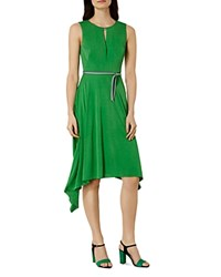 Karen Millen Belted Dress Green