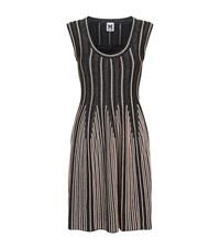 M Missoni Lurex Stripe Fit And Flare Dress Female Black