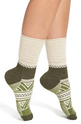 Smartwool Women's 'Camp House' Crew Socks Natural Heather