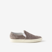 Common Projects Suede Slip On Shoe Grey