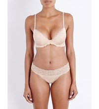 Calvin Klein Seductive Comfort Multiway Stretch Lace And Jersey Underwired Bra 20N Bare