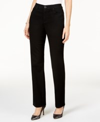 Jm Collection Petites Petite Embellished Straight Leg Jeans Only At Macy's Black