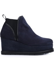 Castaner 'Fibbie' Wedge Ankle Boots Blue