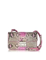 Ghibli Pink Python And Leather Crossbody Bag