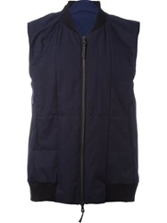 11 By Boris Bidjan Saberi Zipped Vest Blue