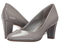 Lauren Ralph Lauren Hala Stone Patent Leather Women's Shoes Gray