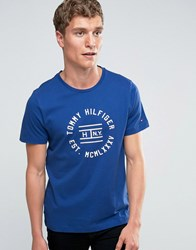 Tommy Hilfiger T Shirt With Circle Logo In Blue 08878A0259
