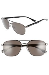 Boss Men's '0701 S' 57Mm Aviator Sunglasses Dark Ruthenium Black