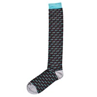 Kloters Milano Turquoise Mustache Socks Blue Brown