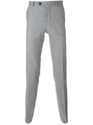 Brunello Cucinelli Tailored Tweed Trousers Grey