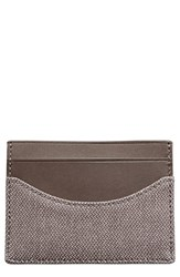 Men's Skagen 'Torben' Card Case Grey Dark Heather Grey