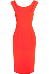 Goat Rex Wool Crepe Dress Bright Orange