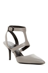 Kenneth Cole Laird Pointed Toe Strappy Pump Gray