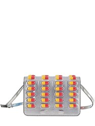 Moschino Pill Pack Metallic Faux Leather Bag