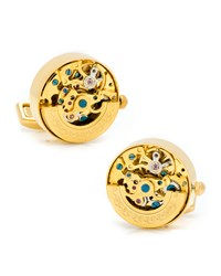 Golden Watch Movement Cuff Links Cufflinks