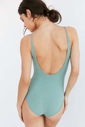 Out From Under Ribbed Bodysuit Green