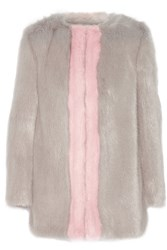 Shrimps Gloria Two Tone Faux Fur Coat Gray