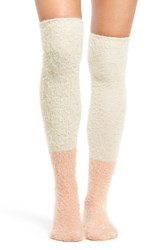 Free People Women's Grand Rapids Over The Knee Socks Pink