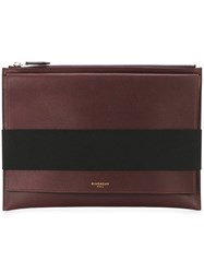 Givenchy Flap Detail Clutch Red