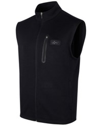 Greg Norman For Tasso Elba Men's Big And Tall Fleece Sweater Vest Only At Macy's Deep Black