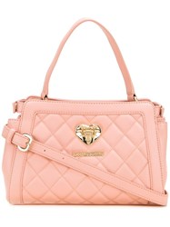 Love Moschino Small Quilted Tote Pink Purple