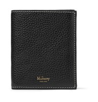 Mulberry Full Grain Leather Trifold Wallet Black