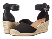 Sperry Valencia Canvas Black Women's Wedge Shoes