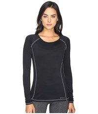 Merrell Contour Base Layer Long Sleeve Top Black Women's Long Sleeve Pullover