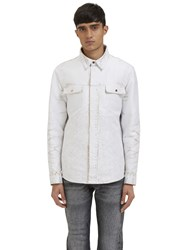 Calvin Klein Neo Worn Denim Jacket White