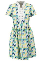 Closet Summer Dress White Yellow Blue Green Light Blue