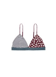 Love Stories 'Miss Daisy' Stars And Stripes Print Triangle Bralette Multi Colour
