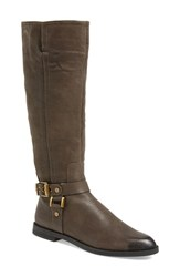 Women's Franco Sarto 'Vantage' Riding Boot Grey Leather