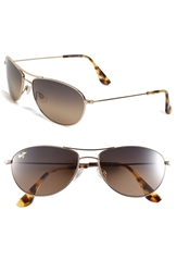 Maui Jim 'Baby Beach Polarizedplus 2' 56Mm Sunglasses Gold Tortoise