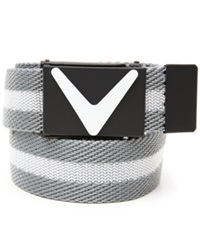 Callaway Cut To Fit Jacquard Webbed Belt Bright White