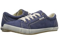 Taos Star Blue Washed Canvas Women's Lace Up Casual Shoes