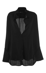 Ellery Mona Lisa Button Blouse Black