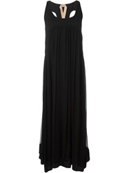 Nao21 Pleated Maxi Dress Black