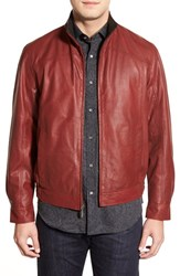 Men's Missani Le Collezioni Contrast Trim Lambskin Leather Jacket