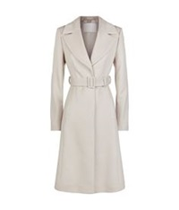 Hugo Boss Belted Overcoat Stone