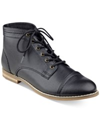 Indigo Rd. Harts Lace Up Oxford Booties Women's Shoes Black